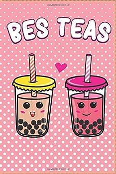 Paperback Bes Teas Cute Kawaii Bubble Tea Boba Notebook Journal Gift Book