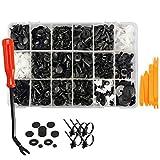 Nrpfell 435 Piezas de Retenes para Autos y Kit de Sujetadores de Plástico - 19 Tama?os Auto Push Pin Remaches Set -Puerta de Ajuste del Panel Clips para