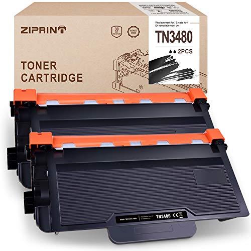 ZIPRINT 2 Pack Negro Toner Compatible Brother TN3480 TN-3480 para Brother Brother HL-L5000D L5100DN L5200DW L6200DW DCP-L5500DN MFC-L6800DW L6900DW