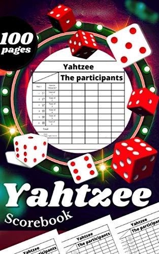 Yahtzee Scorebook: Ultimate Yahtzee Dice Game Score Sheets , size 5 x 8
