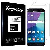 PHONILLICO [Pack de 2] Verre Trempe pour Samsung Galaxy J7 2017 SM-J730 Film Protection Ecran Verre...