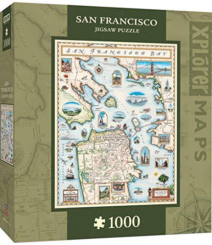 MasterPieces Xplorer Maps - San Francisco Bay 1000pc Puzzle