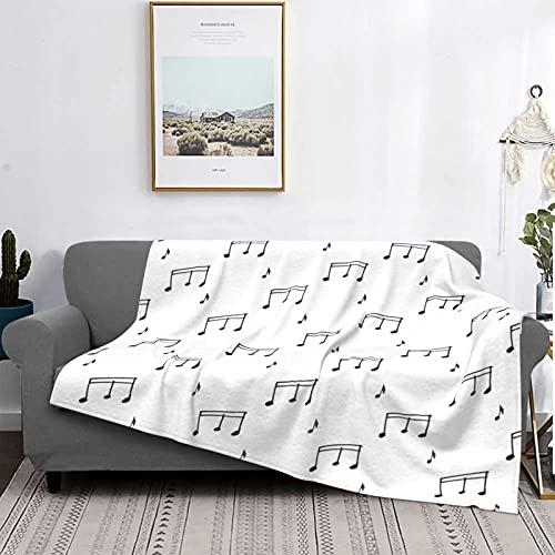 Dachangtui Manta Mantas de Microfibra Ultra Suaves, símbolo de sílaba Musical Fondo Blanco, Manta Suave y Ligera para Cama, sofá, Sala de Estar, 40 'x 50'