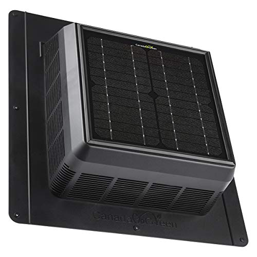 4 Seasons PRO Solar Powered Polycarbonate Vent, Quietly Cools Up to 500 Sq Ft, 400 CFM, Hurricane Tested TAS 100(A)