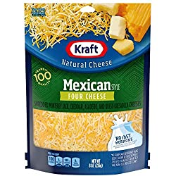 Kraft Cheese, 4 Cheese Mexican Style Blend, Finely Shredded, 8 oz