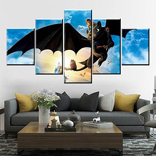 Canvas prints muurschilderingen hoe je je draak 5 schilderen posters moderne woonkamer woondecoratie modulaire foto's