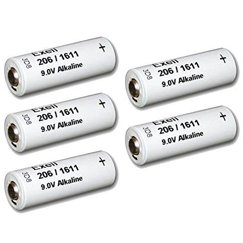 5pc Exell 206A Alkaline 9V Battery 110mAh NEDA 1611, H-7D, H-6D