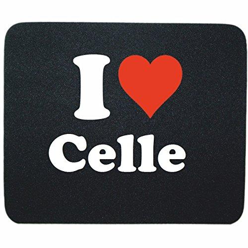 """Exklusive Geschenkidee: Mauspad """"I Love Celle"""" in Schwarz, eine tolle Geschenkidee die von Herzen kommt- Rutschfestes Mousepad- Weihnachts Geschenktipp"""