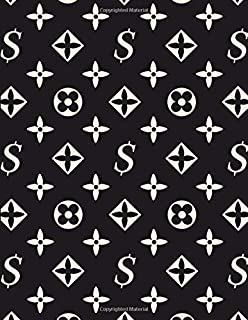 Luis Vuitton - Dark Monogram Notebook: Guitar Tab Notebook with 6-Line Staves and Blank Chord Diagrams