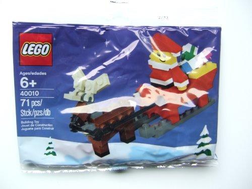 LEGO Weihnachts-Set 40010 Weihnachtmann mit Rentier und Schlitten