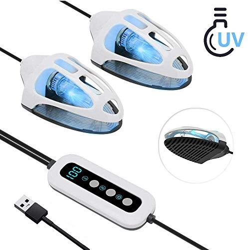 Luxvista USB Ultravioleta Ozone Zapatos Secador Eléctrico portátil UV Esterilizador de olores Desodorante Deshumidificación calzado Secador Calentador 5v 10w para coche, gabinete del zapato,tocador