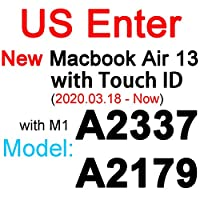 for MacBook Pro 13 15 17空気13 11 12網膜タッチクリアEU US UK A2179 A2337 A2338 20フィルムスキンTPUシリコーン -US New Air 13