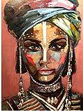 ELAFI - Póster DIN A3, decoración para Comedor u Oficina, Arte, Estilo Africano, Retrato de Mujer