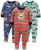 Simple Joys by Carter's pijama de forro polar suelto para bebés y niños pequeños, paquete de 3 ,Bear/Alligator/Fox/Racoon ,18 Months