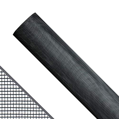Saint-Gobain ADFORS FCS9371-M Aluminum Window Screen, 48' x 84', Charcoal