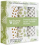 Organic Muslin Bamboo Swaddle Blanket - Newborn Boys and Girls Soft Receiving Baby Swaddling Blankets Set of 3 by Bunny Palm Large Unisex Infant Toddler 47 x inch Best Shower Gift baby organic receiving blankets May, 2021