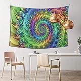 N/A Tapiz Mandala Hippie Bohemio Tapices para colgar en la pared, hojas tropicales, hibisco, tapiz para colgar en la pared, decoración de dormitorio indio, 101,6 x 152,4 cm