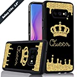 Golden Queen Crown Phone Case Samsung Galaxy S10e Cover Shockproof Anti-Skid Tired Tread Protective Case for Samsung Galaxy S10e