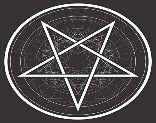 MQPPE Gothic Sign DIY Jigsaw Puzzles, Baphomet Star Reversed Pentagram Circle Wooden Puzzles for Adults 300 Pieces, Best Family Funny Decompression Games for Kids, 10 x 15 Inches