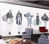 LONGYUCHEN Murales De Seda 3D Personalizados Patrón Creativo Belleza Retro Adecuado Para La Tienda De Uñas Tienda De Maquillaje Peluquería Tienda De Ropa Fondo De Pantalla De Fondo,300Cm(H)×500Cm(W)