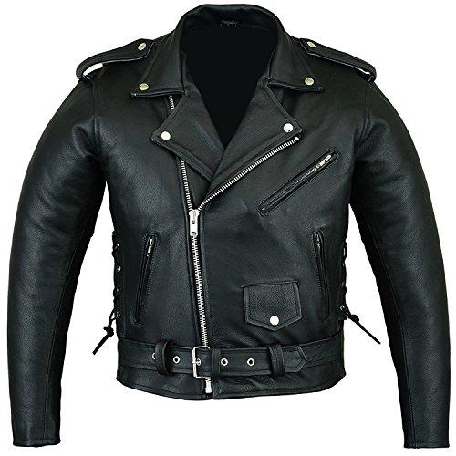Australian Bikers Gear - Brando - Herren Motorradjacke - Punk - Leder - 52 (XL)