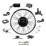 EBIKELING 48V 1200W 700C Direct Drive Waterproof Electric Bike Kit - Ebike Conversion Kit - Electric Bike Conversion Kit (Front/LED/Twist)