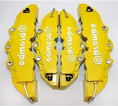 Herramientas de reparación de automóviles 4Pcs 3D Útil Coche Universal Freno de disco Pinza cubre delantero y trasero (amarillo)