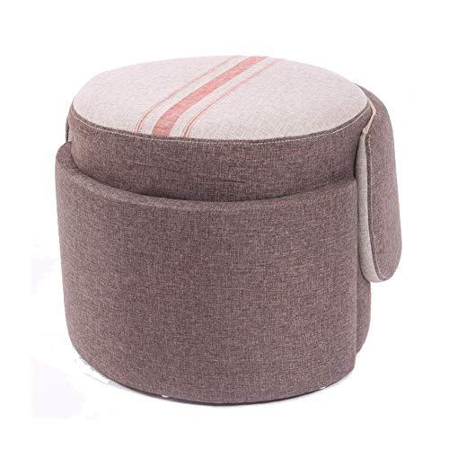 QQXX Stool voetenzak / stoel, voor het wisselen van make-upschoenen, gemakkelijk te reinigen, stof van technologie/hout, voor kleding/kantoor/woonkamer/eetkamer, 2 kleuren STOOLtre574r-2 Stooltre574r-2