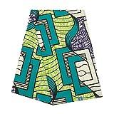 Nigerian Fabrics for Women African Wax Fabrics Ankara Real Wax by The Yards 100% Cotton 40x40 Soft Cotton Cloth for Dress Party Wedding