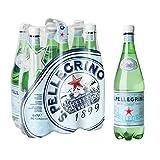 San Pelegrino - Agua mineral natural con gas, 6 botellas, 1L...