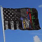 AOTADer Abgenutzte Flaggen im Freien USA Flagge Niemand kämpft allein Helden Flagge Flagge für Sportfan Fußball Basketball Baseball Hockey
