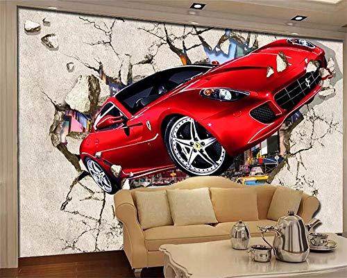 XUNZHAOYH Mural 3D Pared,Papel Tapiz Personalizado 3D Papel De Parede Mural Alquiler Muro Roto Fuera De Fondo TV Pintura Decorativa Wall Papers Decoracion,250(W) X160Cm(H)(8.2X5.3) Ft