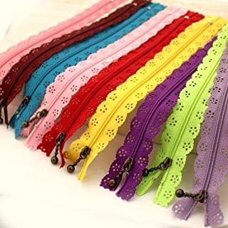 YEQIN Random Color 20pcs/lot 30cm 12 inch DIY Nylon Zippers lace Nylon Finish Zipper for Sewing Wedding Dress