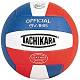 Tachikara SV18S Composite Leather Volleyball (Red White and Blue)