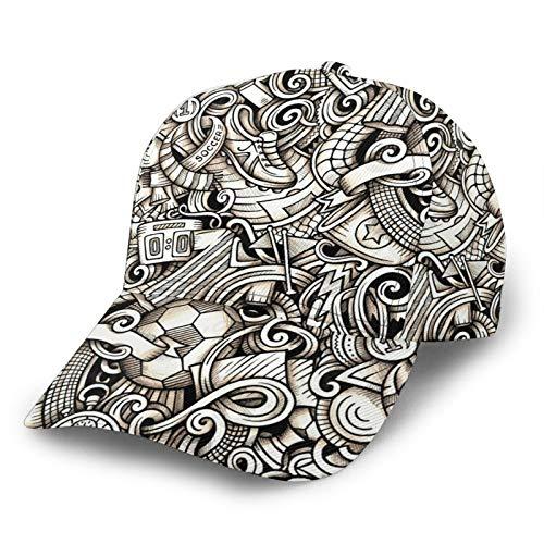 HARLEY BURTON Unisex Baseball Cap Printed Football Sports Shoes Score Trophy Stopwatch Adjustable Hip Hop Cap Sun Hat
