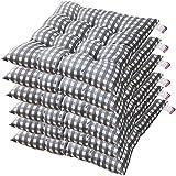 Juego de 6 cojines acolchados para sillón, lazos de longitud completa, antideslizantes, duraderos, comodidad y suavidad superiores, almohadillas lavables para uso en interiores 40 x 40 x 6 cm.