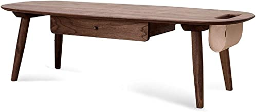 Wooden Coffee Table Shelf,Solid Wooden with Drawer Rectangular Tv Stand Lounge Storage for Dining or Living Room Furniture...