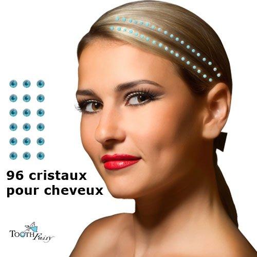 Cristaux BLEU Bijoux pour les cheveux