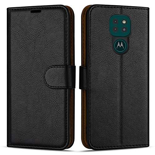 Hülle Collection Hochwertige Leder hülle für Motorola Moto G9 Play Hülle (6,5