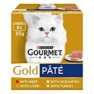 Gourmet Gold Cat Food Pate Recipes, 12 x 85 g - Pack of 8