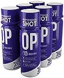 Runtime OP Energy Shot, Performance Boost für Konzentration, Wachheit und Leistung   154mg Koffein + Tyorisin + Grüntee-Extrakt + Nootropika   6 x 60ml (Berry)