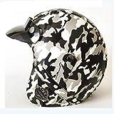 Club Boy Casque de Camouflage, Casque de vélo de Motocross, Dot/Ece Dual Certification Produits de Protection Respirants Confortables et de sécurité