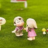 2 Unids/Set Sweety Lovers Pareja Silla Figuras Hadas Jardín Miniaturas DIY Adorno Decoración Manualidades Figuras Micro Paisaje, Rosa Pareja