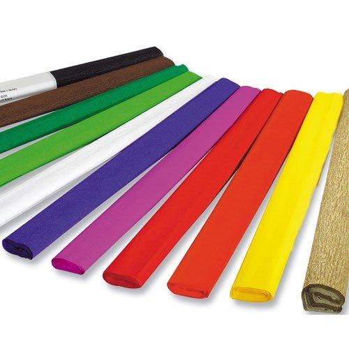 Folia Bringmann Rouleau de Papier crépon, 32g/m2 Couleur : Vert Format : 250 x 50cm Contenu : 10 Rouleaux Papier crépon, 250 x 50cm, 32g/QM, 10 Rouleaux, 10 Couleurs Assorties
