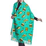 Tengyuntong Bufanda de mantón Mujer Chales para, Bufanda informal del invierno de la cachemira de la bufanda del mantón del modelo de la comida rápida para los hombres de las mujeres