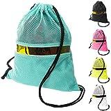 GLOWPOKE Drawstring Backpack Bag - Lightweight Mesh String Bag - in 5 Colors