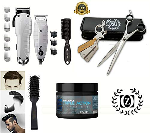 Liberty Supply Barber Combo Hair Cutting Starter Kit Clippers Trimmer Hair Gel Brush