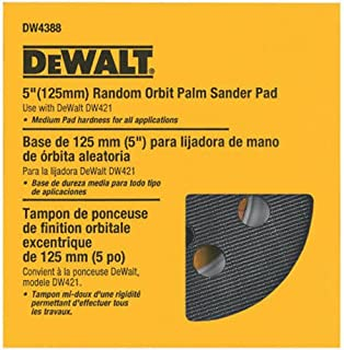 DEWALT Sander Pad, 5-Inch Orbital, Fits the DW421K and DW423K (DW4388)