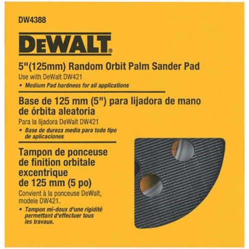 DEWALT Sander Pad, 5-Inch Orbital, Fits the DW421K and DW423K (DW4388)