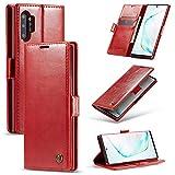 Funda Samsung Galaxy Note 10 Plus con Tapa, con Cierre Magnético Flip Case Cover,[Despertar/Dormir Automático] [Soporte Plegable] [Ranuras para Tarjetas] para Teléfono Galaxy Note 10 Plus (C)